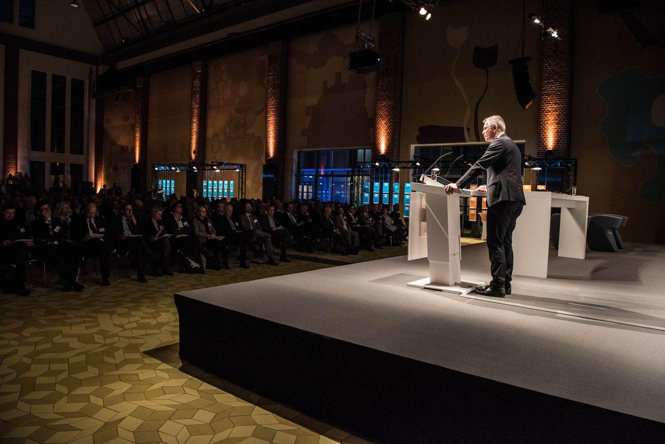 Blick ins Publikum bei der Eröffnungsrede von Minister Remmel