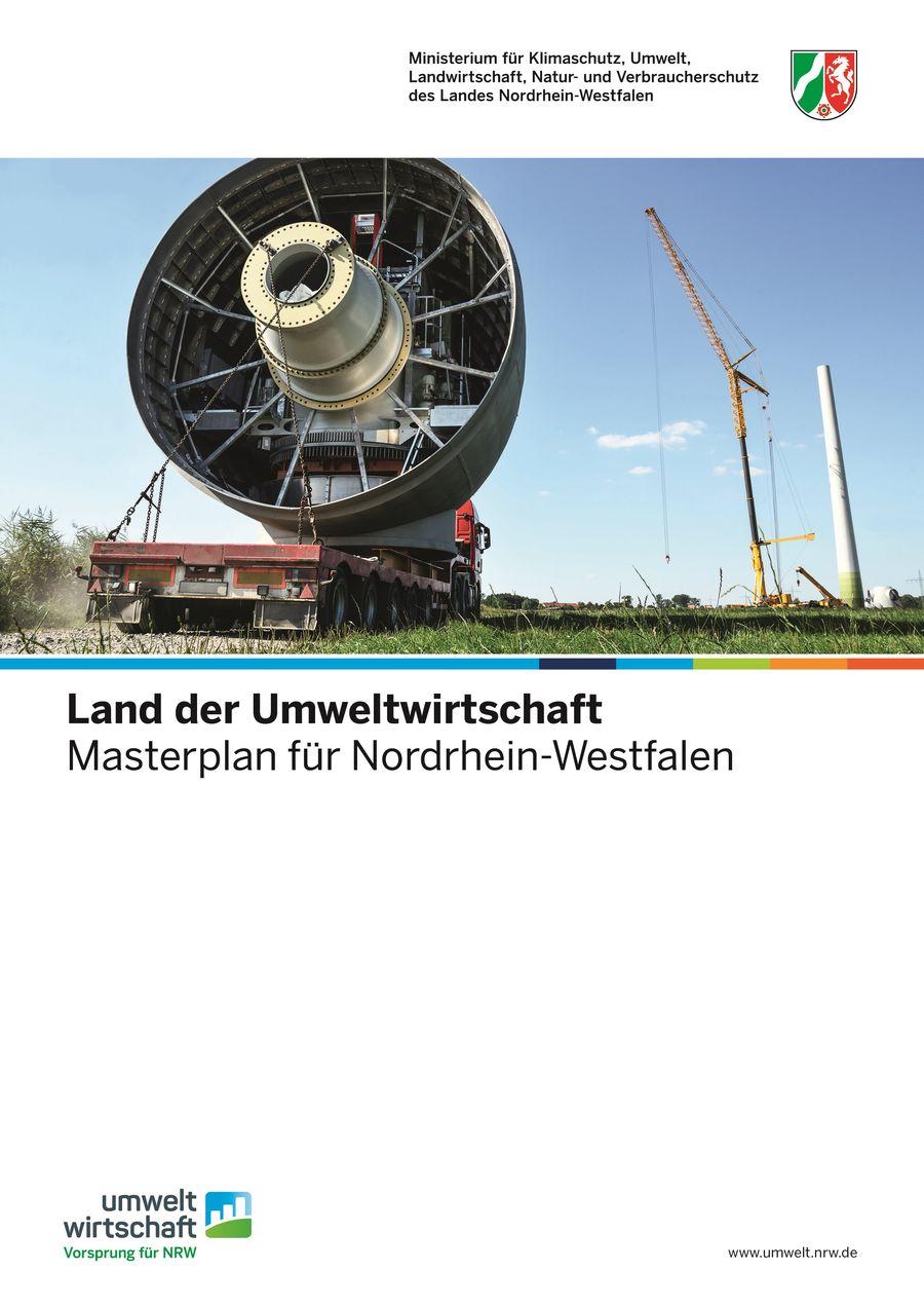 """Titelblatt des Masterplans """"Land der Umweltwirtschaft"""""""