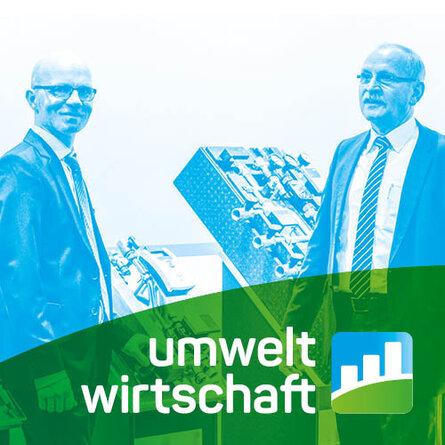 Farbverfremdetes Titelbild mit Logo Umweltwirtschaft